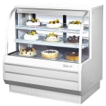 "Turbo Air TCGB-48-DR 48.5"" Full Service Dry Bakery Display Case w/ Curved Glass - (3) Levels, 115v"