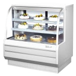 "Turbo Air TCGB-48-W-N 48.5"" Full Service Bakery Display Case w/ Curved Glass - (3) Levels, 115v"