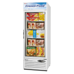 "Turbo Air TGF-23F-N 27"" One-Section Display Freezer w/ Swinging Door - Bottom Mount Compressor, 115v"