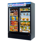 "Turbo Air TGF-49FB 54.37"" Two-Section Display Freezer w/ Swinging Doors - Bottom Mount Compressor, 115v"