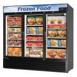 "Turbo Air TGF-72FB-N 81.88"" Three-Section Display Freezer w/ Swinging Doors - Bottom Mount Compressor, 115v"