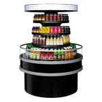 "Turbo Air TIOM-48RB-N 48"" Island Display Self-Serve Refrigerated Merchandiser w/ (3) Levels, 220v/1ph"