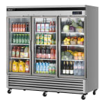"Turbo Air TSR-72GSD-N 81.88"" Three Section Reach-In Refrigerator, (3) Glass Door, 115v"