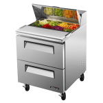 "Turbo Air TST-28SD-D2 27"" Sandwich/Salad Prep Table w/ Refrigerated Base, 115v"