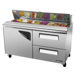 "Turbo Air TST-60SD-D2 60"" Sandwich/Salad Prep Table w/ Refrigerated Base, 115v"