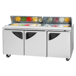 "Turbo Air TST-72SD-N 72.63"" Sandwich/Salad Prep Table w/ Refrigerated Base, 115v"