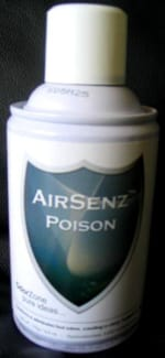 Control Zone F010 AirSenz Fragrances, 6 oz, Covers 6000 cu.ft., Poison