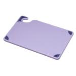 San Jamar CBG6938PR Saf-T-Grip Allergen Cutting Board, 6 x 9 x 3/8 in, NSF, Purple