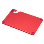 San Jamar CBG6938RD Saf-T-Grip Bar Cutting board, 6 x 9 x 3/8 in, NSF, Red