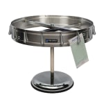 San Jamar CK6016P Check Wheel with Pedestal - 16 Clips, Stainless