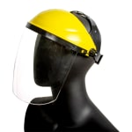 San Jamar EZKFS EZ-Kleen Face Shield w/ Adjustable Headband, Plastic