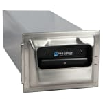 San Jamar H2001SS In-Counter 750 Fullfold Napkin Dispenser, Satin Stainless