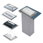 San Jamar H2005CLSS In-Counter 750 Fullfold Napkin Dispenser, Clear & Steel