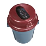 San Jamar KA5500 Table Retrievers, 55 gal., Red