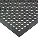 "San Jamar KM1100 Kitchen Mat, Rubber, Anti-Slip, 36"" x  60"", Grease-Resistant, Black"