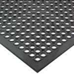 "San Jamar KM1100B Kitchen Mat, Anti-Slip, Fatigue Fighting, Grease Resistant, 36 x 60"", Black"