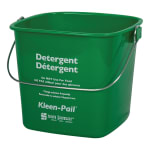 San Jamar KP97GN Kleen-Pail, 3 qt., Plastic, Green - Soaping Solution Printing