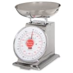 "San Jamar SCDLB2 Escali 2-lb Dial Scale w/ Removable Platform - 6"" x 6"", Stainless"