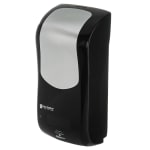 "San Jamar SH970BKSS Wall-Mount Touch-Free Soap Dispenser - 5.75"" x 12.25"", Black/Stainless"