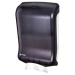 San Jamar T1700TBK Ultrafold Wall Towel Dispenser - C-Fold or Multifold, Black Pearl