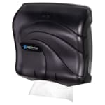 San Jamar T1759TBK Ultrafold Oceans Wall Towel Dispenser - (240) C-Fold or (400) Multifold, Black Pearl