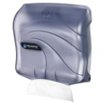 San Jamar T1759TBL Ultrafold Oceans Wall Towel Dispenser - (240) C-Fold or (400) Multifold, Arctic Blue