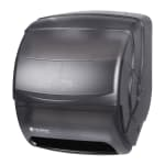 San Jamar T850TBK Integra Level Roll Wall Towel Dispenser - Wide Roll, Black Pearl