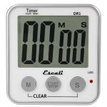 "San Jamar TMDGXL Escali Digital Timer w/ Minute & Second Timing - 3.5"" x 3.25"", White"