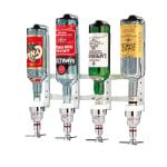 """World Cuisine 44056-06 Wall Mount Bottle Rack, 26 3/8"""", Holds 6 Bottles, Aluminum"""