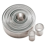 World Cuisine 47316-12 14-pc Round Dough Cutter Set, Stainless Steel