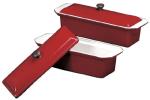 World Cuisine A1738225 Enameled Cast Iron Terrine Mold w/ Lid, Rectangular, 1.25-qt, Red