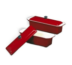 World Cuisine A1738329 Enameled Cast Iron Terrine Mold w/ Lid, Rectangular, 1.5 qt, Red