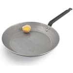 "World Cuisine A4171450 8"" Carbon Steel Frying Pan w/ Solid Metal Handle"