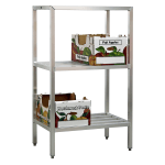 "New Age 1044 72"" Heavy-duty Shelving Unit w/ 1500 lb Capacity, Aluminum"