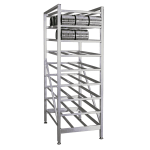 "New Age 6259 71""H Stationary Can Rack w/ (162) #10 or (216) #5 Capacity, Adjustable Feet"