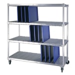 New Age 95333 3-Level Mobile Drying Rack for Trays