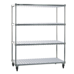 New Age 96087 3 Level Mobile Drying Rack for Trays