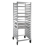 New Age NS621KD Mobile Full Height Donut Screen Rack w/ Open Sides & (20)23x23 Pan Capacity