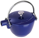 Staub 1650091 Round Teapot w/ 1-qt Capacity & Enamel Coated Cast Iron, Dark Blue