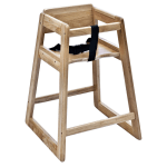 "Koala Kare KB800-20 27.5"" Stackable High Chair w/ Waist Strap - Wood, Light Finish"