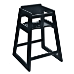 "Koala Kare KB800-22 27.5"" Stackable High Chair w/ Waist Strap - Wood, Black"