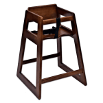 "Koala Kare KB800-24 27.5"" Stackable High Chair w/ Waist Strap - Wood, Dark Finish"