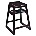 "Koala Kare KB800-29 27.5"" Stackable High Chair w/ Waist Strap - Wood, Mahogany"