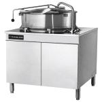 Cleveland KDM-60-T 60-Gallon Direct Steam Tilt Kettle w/ Cabinet, 2/3 Steam Jacket