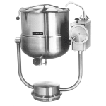 Cleveland KDP-40-T 40-Gallon Direct Steam Tilt Kettle w/ Pedestal Base, 2/3 Steam Jacket