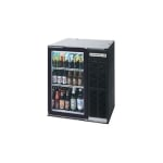 "Beverage Air BB36G-1-B-27 36"" (1) Section Bar Refrigerator - Swinging Glass Door, 115v"