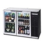 "Beverage Air BB48GYF-1-B-27 48"" (2) Section Bar Refrigerator - Swinging Glass Doors, 115v"