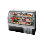 """Beverage Air CDR5/1-B-20 61"""" Full Service Deli Case w/ Curved Glass - (3) Levels, 115v"""