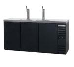 "Beverage Air DD72Y-1-B 72"" Draft Beer System w/ (3) Keg Capacity - (2) Columns, Black, 115v"