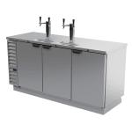 "Beverage Air DD78HC-1-S 79"" Draft Beer System w/ (4) Keg Capacity - (2) Column, Stainless, 115v"